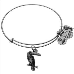 Alex and Ani Team USA Silver Toucan Expandable